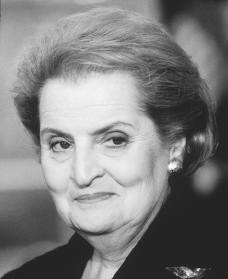 Madeleine Albright. Reproduced by permission of Archive Photos, Inc.