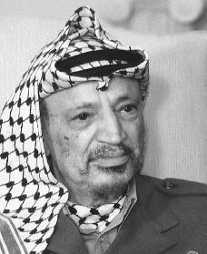 Yasir Arafat. Reproduced by permission of Archive Photos, Inc.