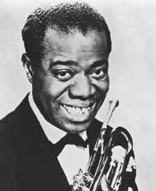 Louis Armstrong. Reproduced by permission of Schomburg Center for Research in Black Culture.