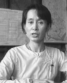 aung san suu kyi biography life family children wife school  aung san suu kyi reproduced by permission of ap wide world photos