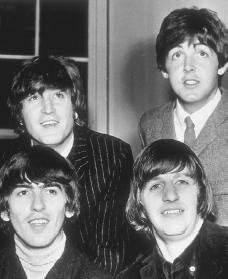 The Beatles. Reproduced by permission of the Corbis Corporation.