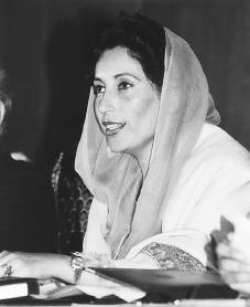 Benazir Bhutto. Reproduced by permission of AP/Wide World Photos.