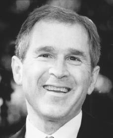 George W. Bush. Reproduced by permission of Archive Photos, Inc.