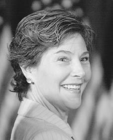 Laura Bush. Reproduced by permission of AP/Wide World Photos.