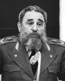 Fidel Castro. Reproduced by permission of the Corbis Corporation.