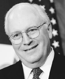 Dick Cheney. Reproduced by permission of the Corbis Corporation.