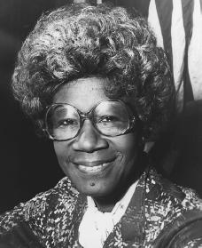 Shirley Chisholm. Reproduced by permission of AP/Wide World Photos.