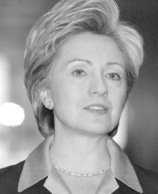 Hillary Rodham Clinton. Reproduced by permission of Getty Images.