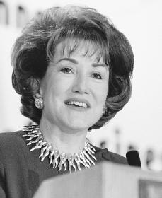 Elizabeth Dole. Reproduced by permission of AP/Wide World Photos.
