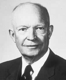 Dwight D. Eisenhower. Reproduced by permission of the Dwight D. Eisenhower Library.