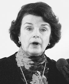 Dianne Feinstein. Reproduced by permission of AP/Wide World Photos.