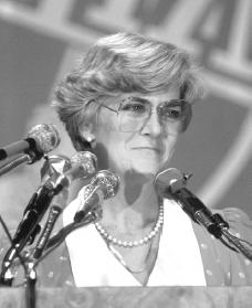 Geraldine Ferraro. Reproduced by permission of Archive Photos, Inc.