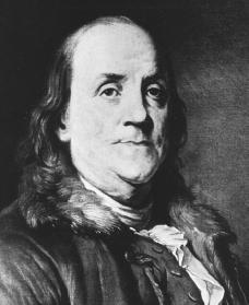 Benjamin Franklin. Courtesy of the Library of Congress.