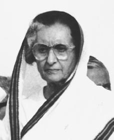 Indira Gandhi. Reproduced by permission of AP/Wide World Photos.