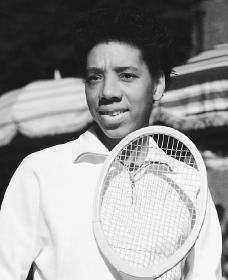 Althea Gibson. Reproduced by permission of the Corbis Corporation.