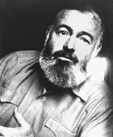 Ernest Hemingway. Reproduced by permission of the Corbis Corporation.