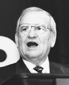 Lee Iacocca. Reproduced by permission of AP/Wide World Photos.