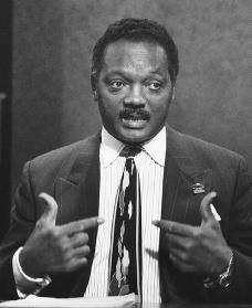 Jesse Jackson. Reproduced by permission of AP/Wide World Photos.