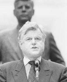 Edward Kennedy. Reproduced by permission of the Corbis Corporation.