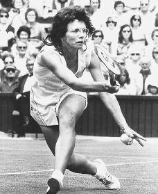 Billie Jean King. Reproduced by permission of Archive Photos, Inc.