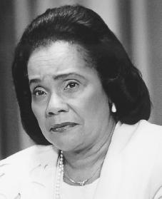 Coretta Scott King. Reproduced by permission of AP/Wide World Photos.