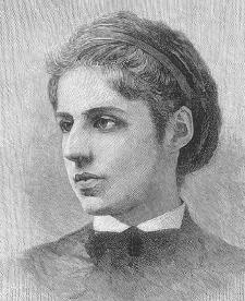 Emma Lazarus. Courtesy of the Library of Congress.