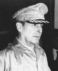 Douglas MacArthur. Reproduced by permission of AP/Wide World Photos.