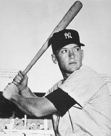 Mickey Mantle. Reproduced by permission of Archive Photos, Inc.