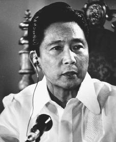 Ferdinand Marcos. Reproduced by permission of AP/Wide World Photos.