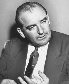 Joseph McCarthy. Reproduced by permission of Archive Photos, Inc.