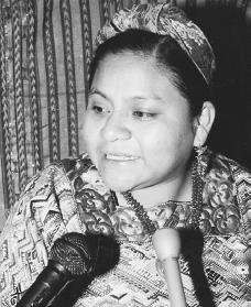 Rigoberta Menchú. Reproduced by permission of AP/Wide World Photos.