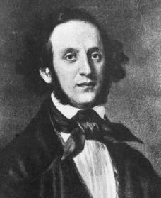 Felix Mendelssohn. Courtesy of the Library of Congress.