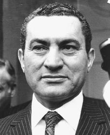 Hosni Mubarak. Reproduced by permission of Archive Photos, Inc.