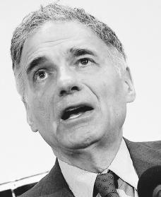 Ralph Nader. Reproduced by permission of AP/Wide World Photos.