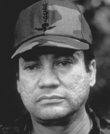 Manuel Noriega. Reproduced by permission of Archive Photos, Inc.