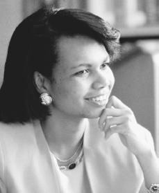 Condoleezza Rice. Reproduced by permission of AP/Wide World Photos.