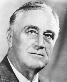 Franklin D. Roosevelt. Reproduced by permission of the Franklin D. Roosevelt Library.