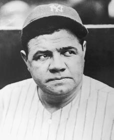 Babe Ruth. Reproduced by permission of Getty Images.