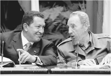 chavez with castro
